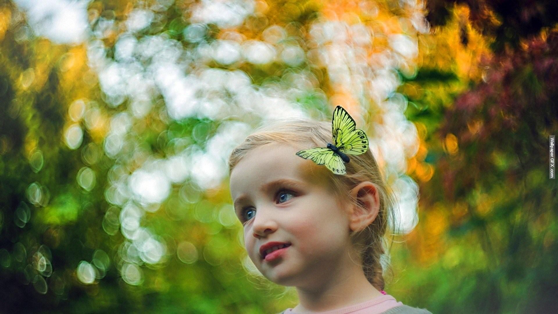 child-butterfly
